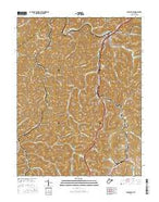 Burnsville West Virginia Current topographic map, 1:24000 scale, 7.5 X 7.5 Minute, Year 2016 from West Virginia Map Store