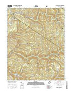 Camden On Gauley West Virginia Current topographic map, 1:24000 scale, 7.5 X 7.5 Minute, Year 2016 from West Virginia Map Store