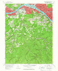 Charleston West West Virginia Historical topographic map, 1:24000 scale, 7.5 X 7.5 Minute, Year 1958