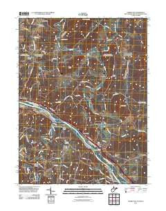 Cherry Run West Virginia Historical topographic map, 1:24000 scale, 7.5 X 7.5 Minute, Year 2011