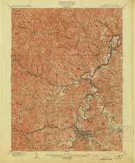 Clarksburg West Virginia Historical topographic map, 1:62500 scale, 15 X 15 Minute, Year 1902