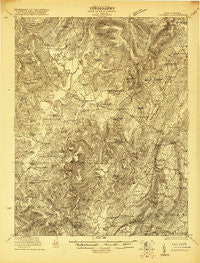 Clintonville West Virginia Historical topographic map, 1:48000 scale, 15 X 15 Minute, Year 1921