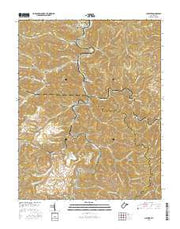 Clothier West Virginia Current topographic map, 1:24000 scale, 7.5 X 7.5 Minute, Year 2016 from West Virginia Maps Store