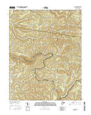 Corliss West Virginia Current topographic map, 1:24000 scale, 7.5 X 7.5 Minute, Year 2016 from West Virginia Maps Store