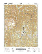 Cowen West Virginia Current topographic map, 1:24000 scale, 7.5 X 7.5 Minute, Year 2016 from West Virginia Map Store