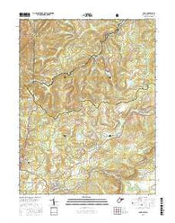 Davis West Virginia Current topographic map, 1:24000 scale, 7.5 X 7.5 Minute, Year 2016