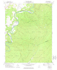 Denmar West Virginia Historical topographic map, 1:24000 scale, 7.5 X 7.5 Minute, Year 1977