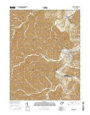 Elizabeth West Virginia Current topographic map, 1:24000 scale, 7.5 X 7.5 Minute, Year 2016 from West Virginia Maps Store