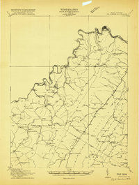 Elk Garden West Virginia Historical topographic map, 1:48000 scale, 15 X 15 Minute, Year 1919