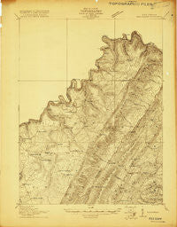 Elk Garden West Virginia Historical topographic map, 1:48000 scale, 15 X 15 Minute, Year 1920