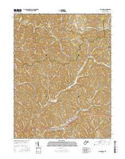 Ellenboro West Virginia Current topographic map, 1:24000 scale, 7.5 X 7.5 Minute, Year 2016 from West Virginia Maps Store