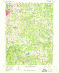 Fairmont East West Virginia Historical topographic map, 1:24000 scale, 7.5 X 7.5 Minute, Year 1958