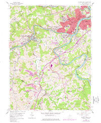Fairmont West West Virginia Historical topographic map, 1:24000 scale, 7.5 X 7.5 Minute, Year 1958