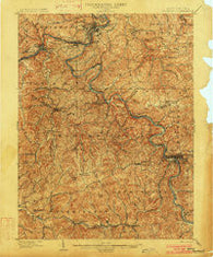 Fairmont West Virginia Historical topographic map, 1:62500 scale, 15 X 15 Minute, Year 1902