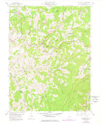 Fellowsville West Virginia Historical topographic map, 1:24000 scale, 7.5 X 7.5 Minute, Year 1958