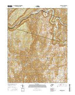Fort Spring West Virginia Current topographic map, 1:24000 scale, 7.5 X 7.5 Minute, Year 2016 from West Virginia Map Store