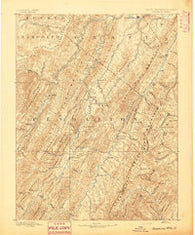 Franklin West Virginia Historical topographic map, 1:125000 scale, 30 X 30 Minute, Year 1892