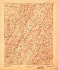 Franklin West Virginia Historical topographic map, 1:125000 scale, 30 X 30 Minute, Year 1896