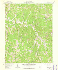 Garretts Bend West Virginia Historical topographic map, 1:24000 scale, 7.5 X 7.5 Minute, Year 1958