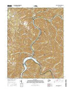 Gauley Bridge West Virginia Current topographic map, 1:24000 scale, 7.5 X 7.5 Minute, Year 2016 from West Virginia Map Store