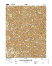 Girta West Virginia Current topographic map, 1:24000 scale, 7.5 X 7.5 Minute, Year 2016 from West Virginia Maps Store