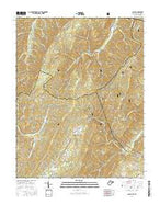 Glace West Virginia Current topographic map, 1:24000 scale, 7.5 X 7.5 Minute, Year 2016 from West Virginia Map Store