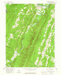 Great Cacapon West Virginia Historical topographic map, 1:24000 scale, 7.5 X 7.5 Minute, Year 1958