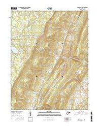 Greenland Gap West Virginia Current topographic map, 1:24000 scale, 7.5 X 7.5 Minute, Year 2016