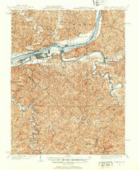 Guyandot West Virginia Historical topographic map, 1:62500 scale, 15 X 15 Minute, Year 1901