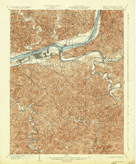 Guyandot West Virginia Historical topographic map, 1:62500 scale, 15 X 15 Minute, Year 1902