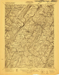 Hanging Rock West Virginia Historical topographic map, 1:48000 scale, 15 X 15 Minute, Year 1921