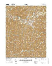 Harrisville West Virginia Current topographic map, 1:24000 scale, 7.5 X 7.5 Minute, Year 2016 from West Virginia Maps Store
