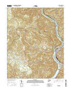 Hinton West Virginia Current topographic map, 1:24000 scale, 7.5 X 7.5 Minute, Year 2016 from West Virginia Map Store