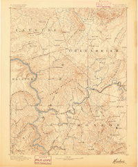 Hinton West Virginia Historical topographic map, 1:125000 scale, 30 X 30 Minute, Year 1887