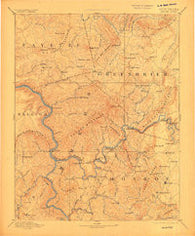 Hinton West Virginia Historical topographic map, 1:125000 scale, 30 X 30 Minute, Year 1892