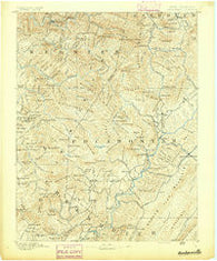 Huntersville West Virginia Historical topographic map, 1:125000 scale, 30 X 30 Minute, Year 1891