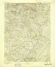 Huntersville West Virginia Historical topographic map, 1:125000 scale, 30 X 30 Minute, Year 1894