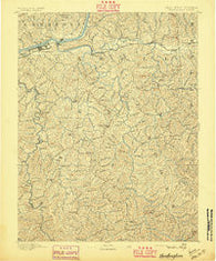 Huntington West Virginia Historical topographic map, 1:125000 scale, 30 X 30 Minute, Year 1892