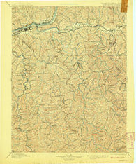 Huntington West Virginia Historical topographic map, 1:125000 scale, 30 X 30 Minute, Year 1898