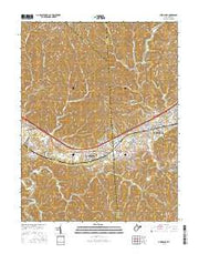 Hurricane West Virginia Current topographic map, 1:24000 scale, 7.5 X 7.5 Minute, Year 2016 from West Virginia Maps Store