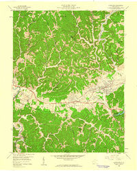 Hurricane West Virginia Historical topographic map, 1:24000 scale, 7.5 X 7.5 Minute, Year 1958