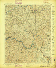 Kanawha Falls West Virginia Historical topographic map, 1:125000 scale, 30 X 30 Minute, Year 1897