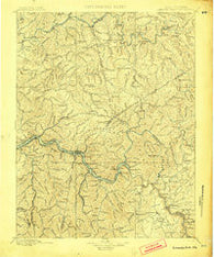 Kanawha Falls West Virginia Historical topographic map, 1:125000 scale, 30 X 30 Minute, Year 1900