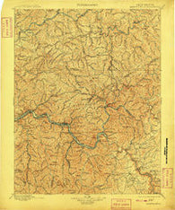 Kanawha Falls West Virginia Historical topographic map, 1:125000 scale, 30 X 30 Minute, Year 1901