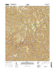 Keystone West Virginia Current topographic map, 1:24000 scale, 7.5 X 7.5 Minute, Year 2016 from West Virginia Maps Store