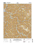 Logan West Virginia Current topographic map, 1:24000 scale, 7.5 X 7.5 Minute, Year 2016 from West Virginia Map Store