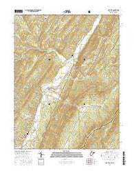 Lost City West Virginia Current topographic map, 1:24000 scale, 7.5 X 7.5 Minute, Year 2016