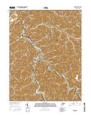 Madison West Virginia Current topographic map, 1:24000 scale, 7.5 X 7.5 Minute, Year 2016 from West Virginia Maps Store