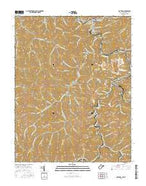 Matewan West Virginia Current topographic map, 1:24000 scale, 7.5 X 7.5 Minute, Year 2016 from West Virginia Map Store
