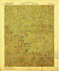 Matewan West Virginia Historical topographic map, 1:62500 scale, 15 X 15 Minute, Year 1917
